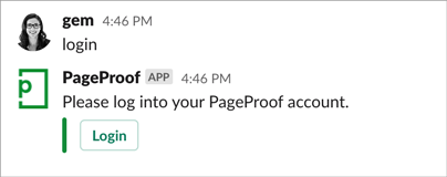 Type login into Slack