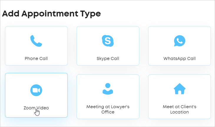 LawTap Add Appointment Type - Zoom Video