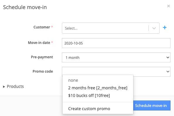 Move-in promo codes