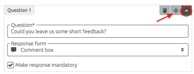 Survey question with comment box