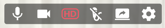 HD Camera button is red which means it's off