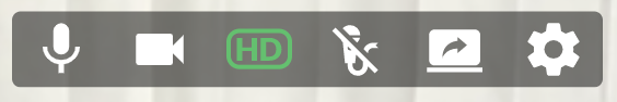 HD Camera button is green which means it's on
