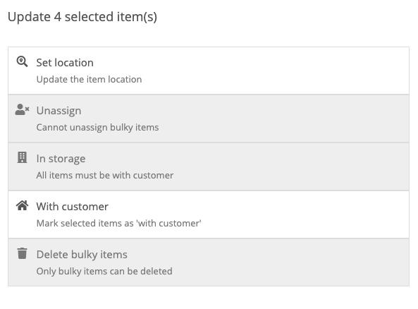Bulk update items