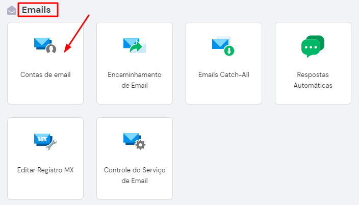 contas de email hpanel