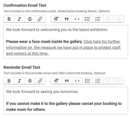 Adding custom text to transactional emails