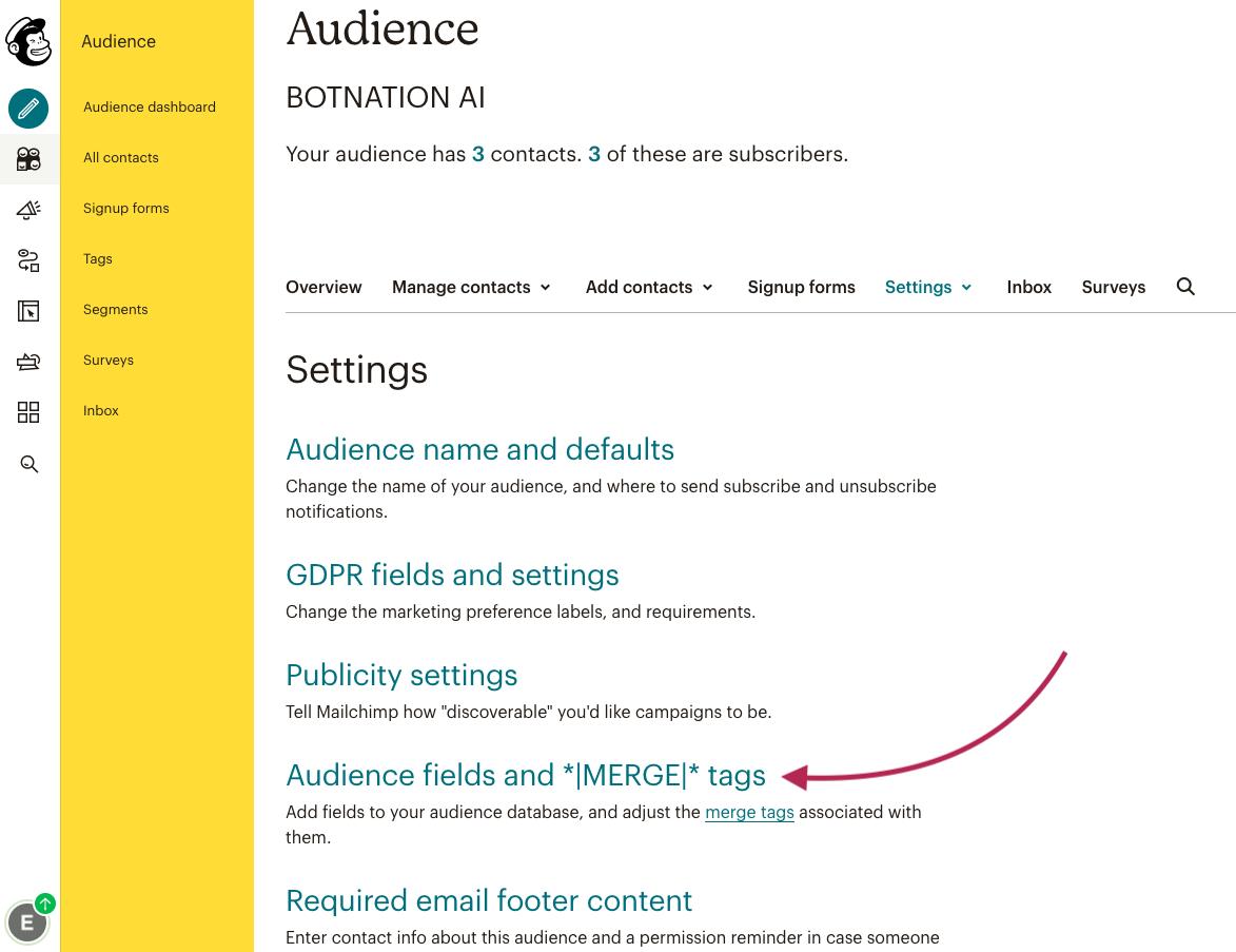 Mailchimp Audience Merge