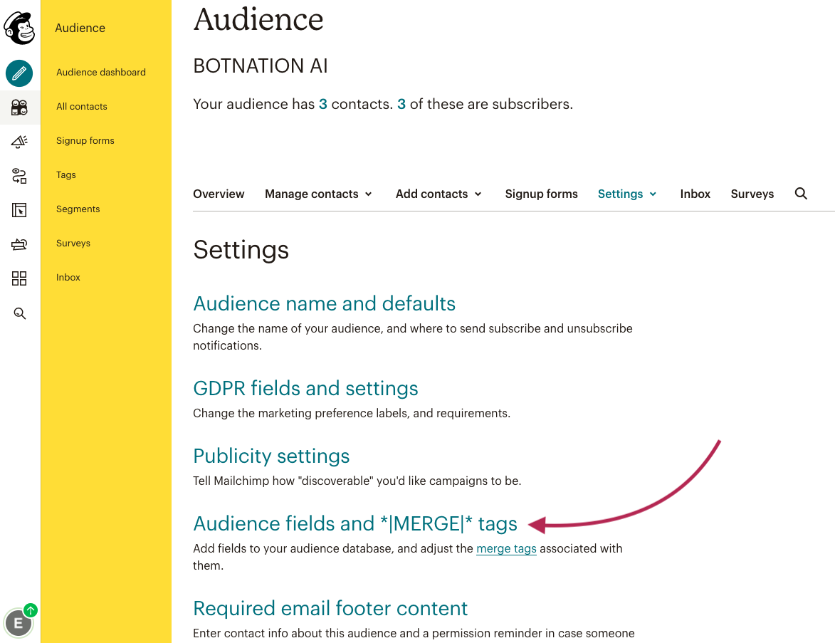 Mailchimp Audience Merge