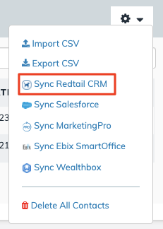 Contact Sync Redtail CRM