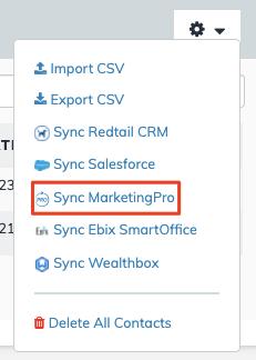 Contacts Sync MarketingPro