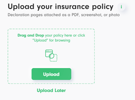 Upload your current home insurance policy for the Versured quote generator.