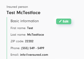 Make sure your info is correct in the Versured quote generator.