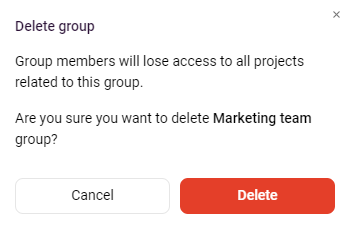 deleting group dialog