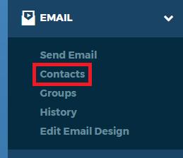 Left Navigation Contacts