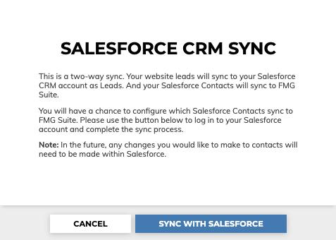 Salesforce CRM Sync