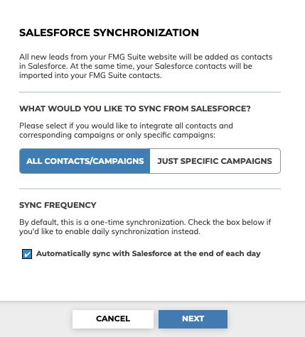 Salesforce Synchronization