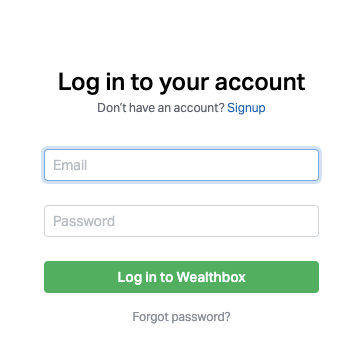 Log In to Wealthbox