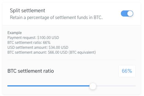 Image of the Split Settlement Module on the OpenNode platform