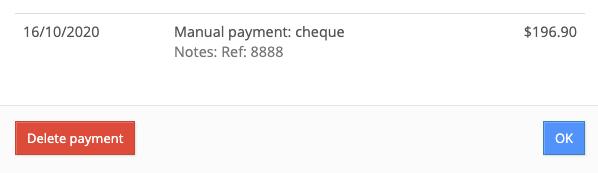 Delete a payment