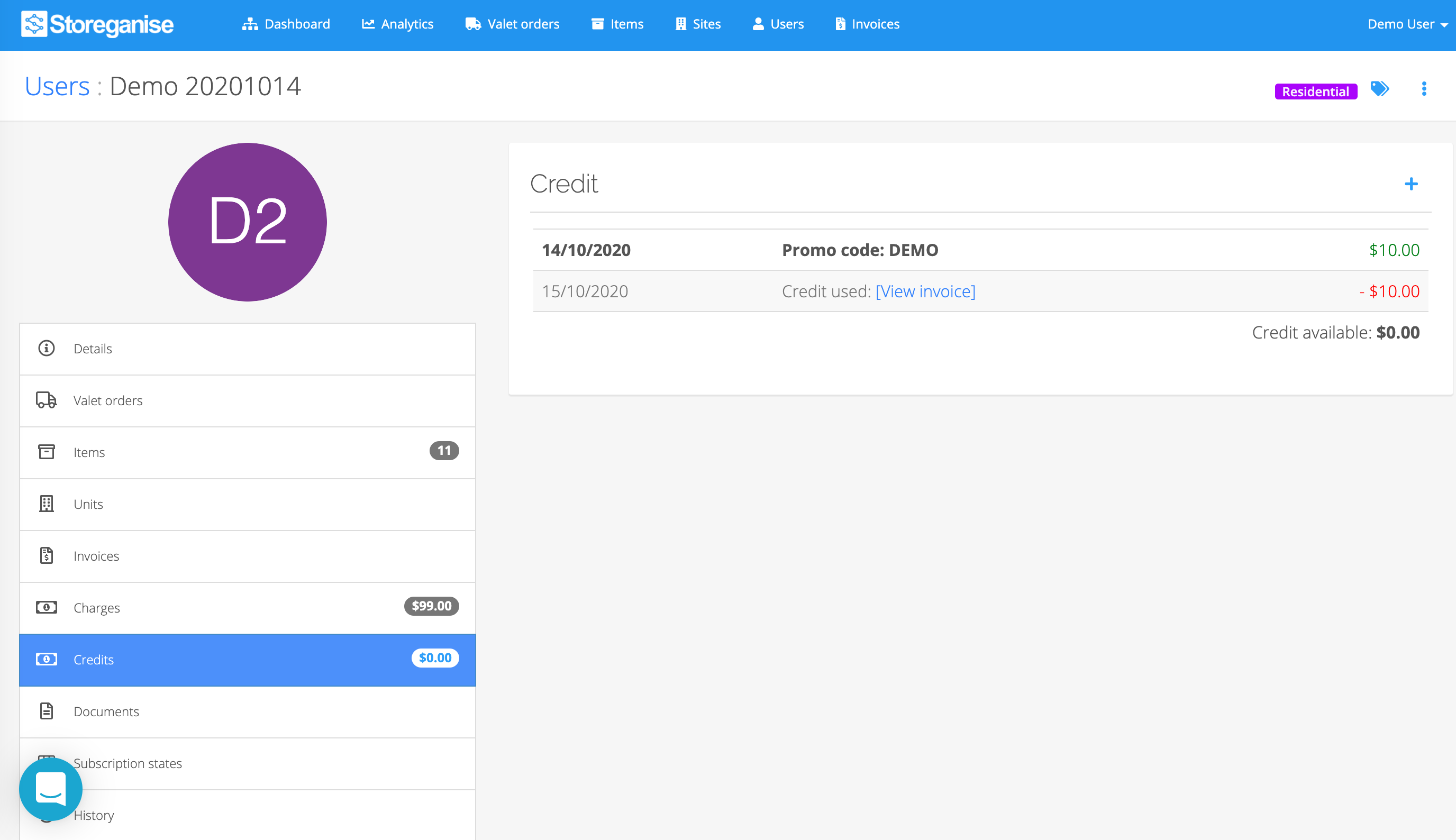 adding credit to an account