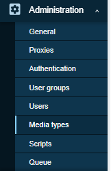 zabbix media type