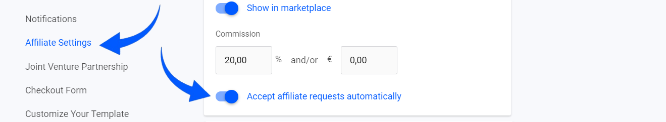 Accept affiliate requests automatically