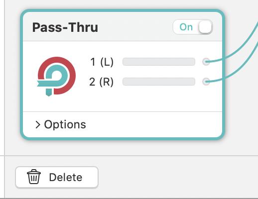 A photo of the pass-thru options