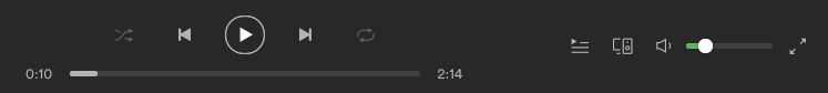 A picture of the volume bar within Spotify