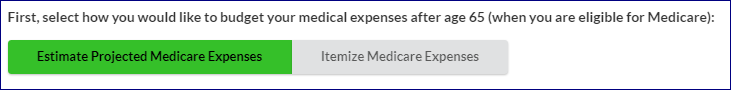 Estimate Projected Medicare Expenses Image