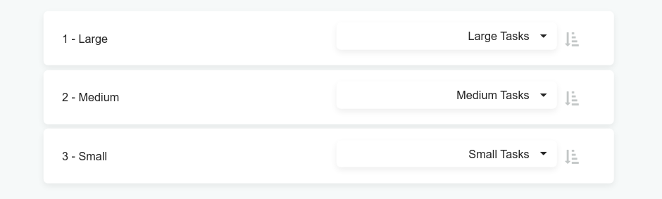 Changing sections in 1-3-5 workflow