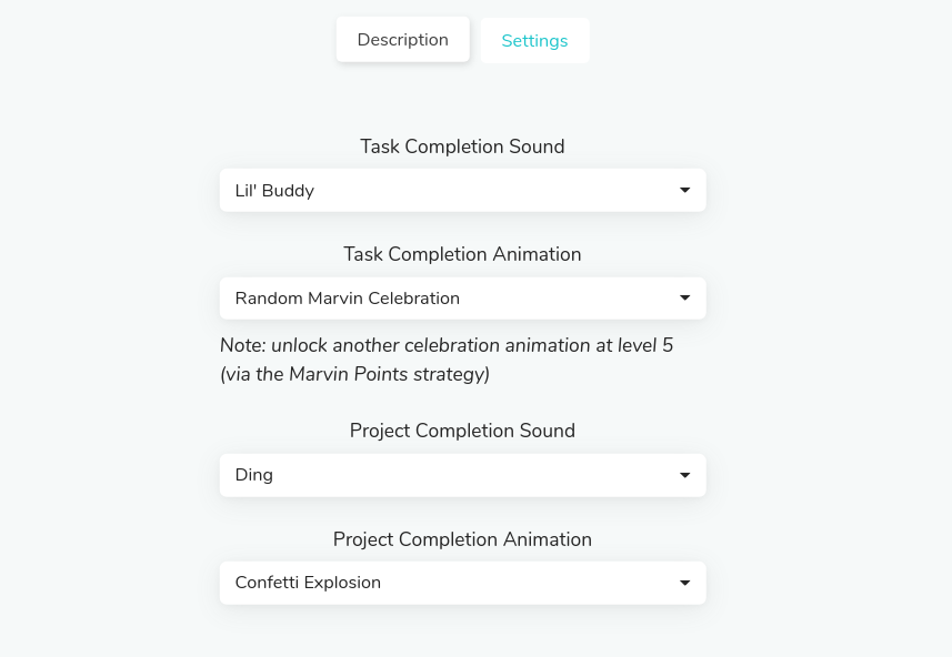 Task and project completion sounds