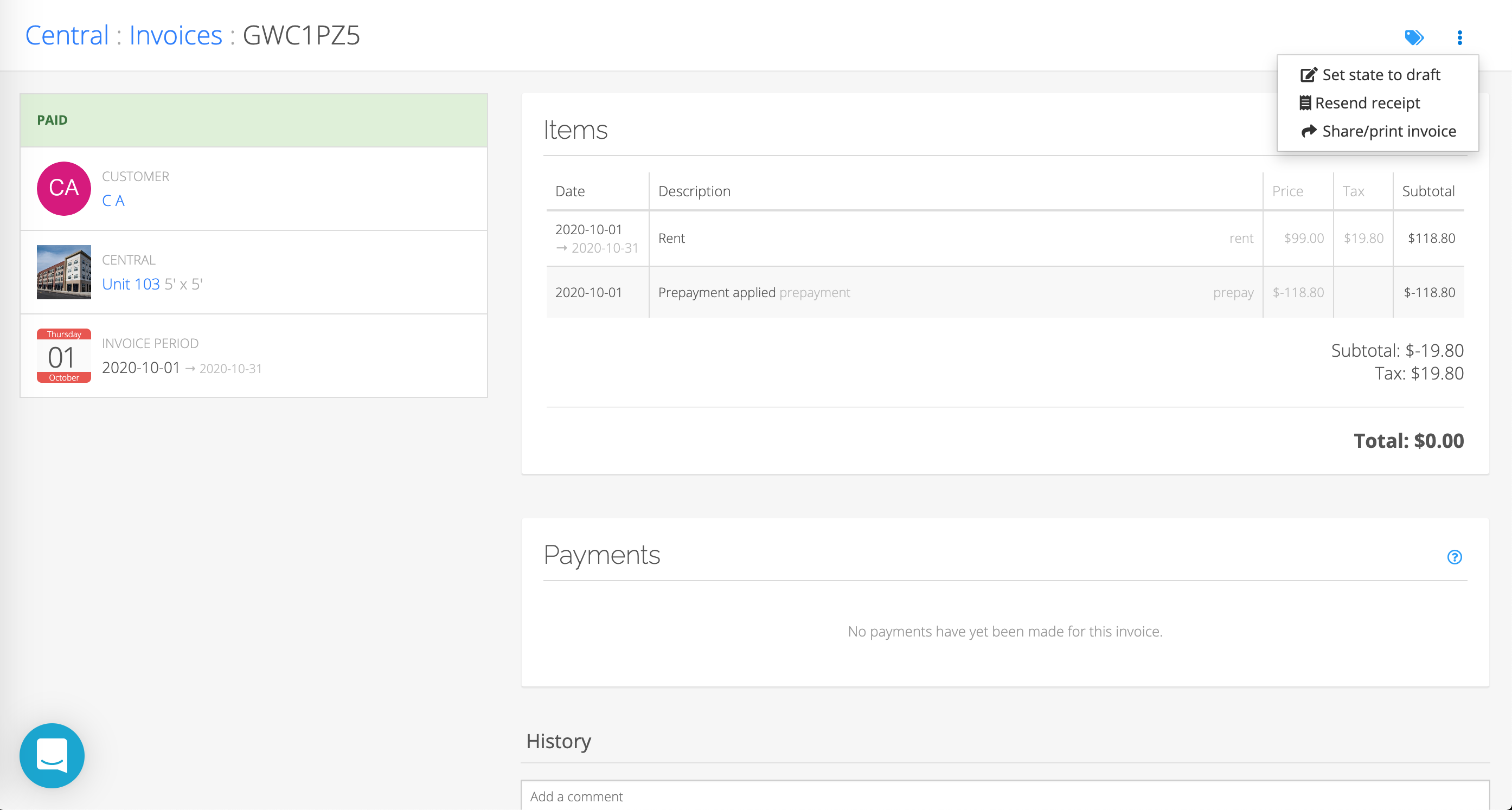 updating invoice items