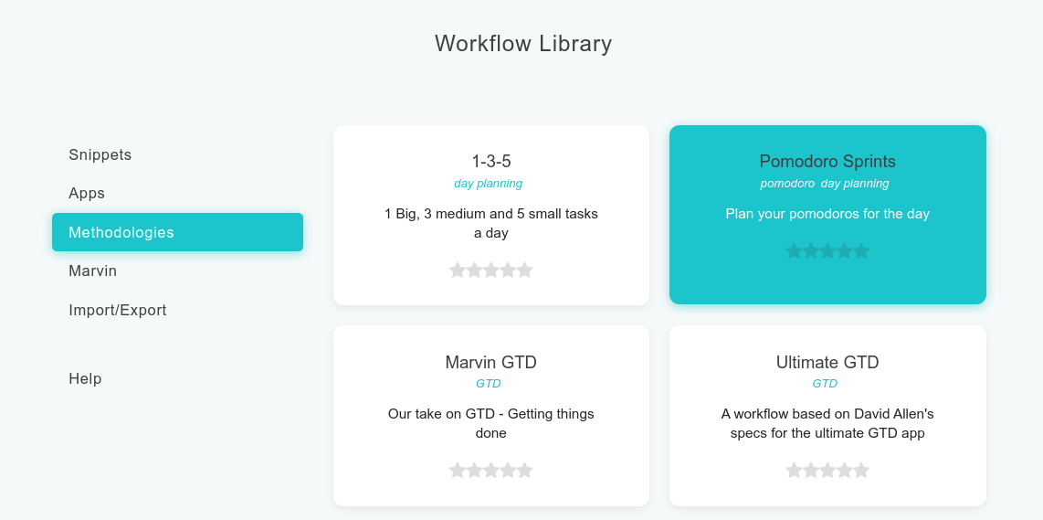 Pomodoro Sprints in the Workflow Library