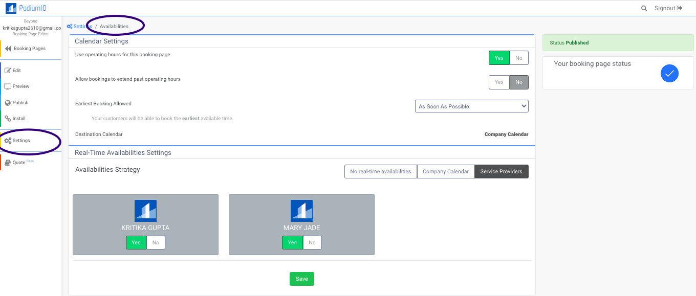 Add availabilities on Live Pricing & Real-time Booking pages