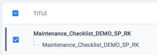 Checkbox fixed in the column