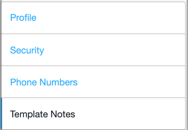 Dentally - My Account - Template Notes