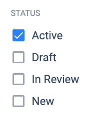 Updated status filter