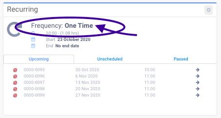 Recurring Booking changed to regular booking