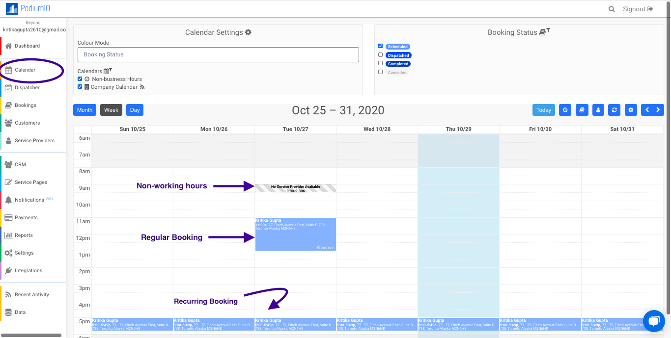 Smart Calendar by PodiumIO