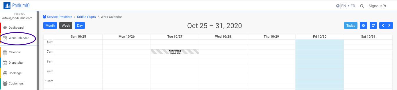 Work Calendar by PodiumIO