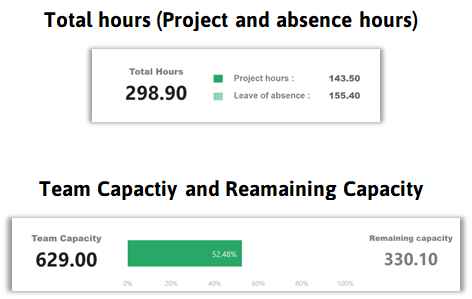 project and absence hours report