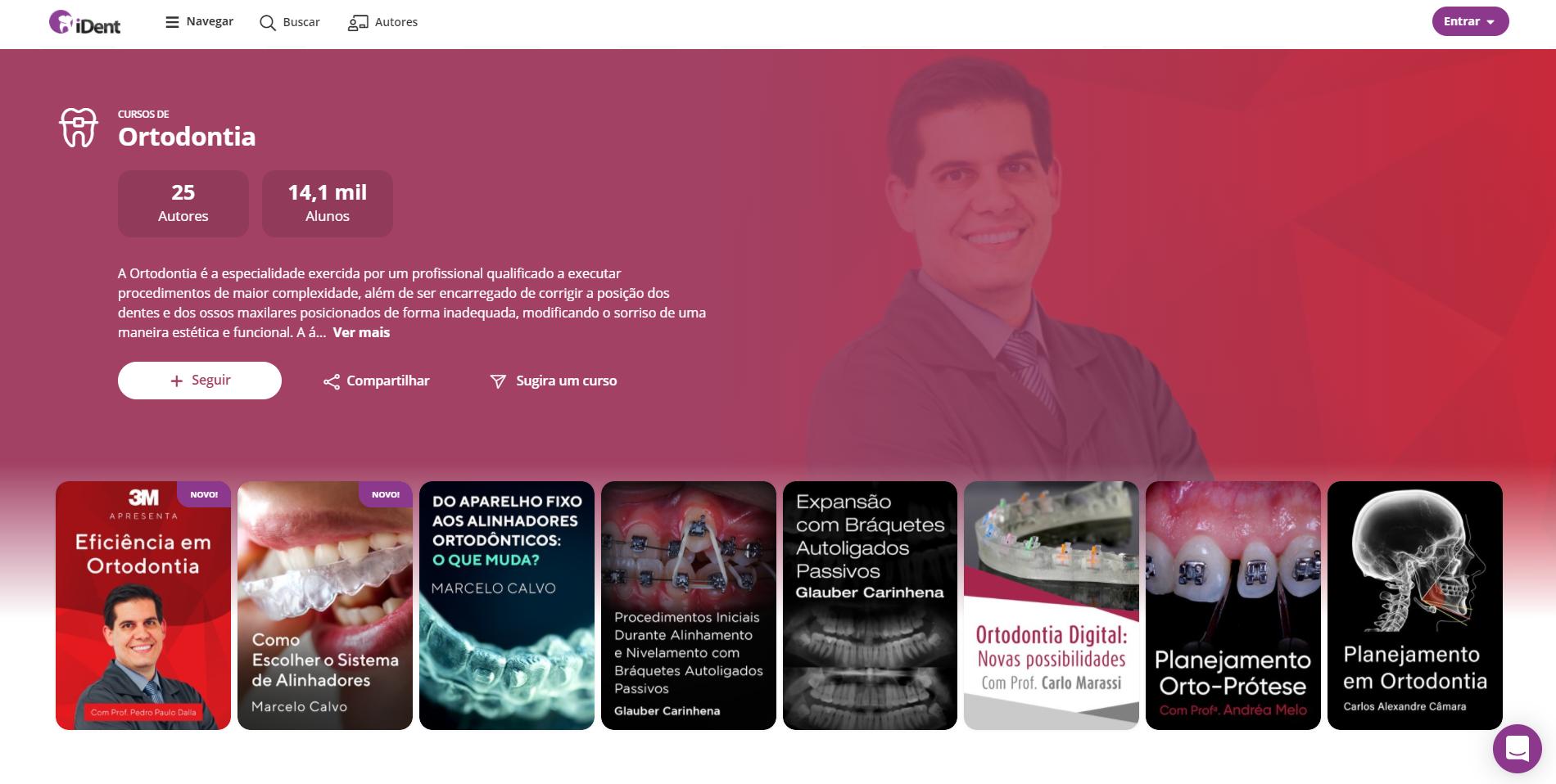 capa de especialidade de cursos de odontologia na especialidade ortodontia