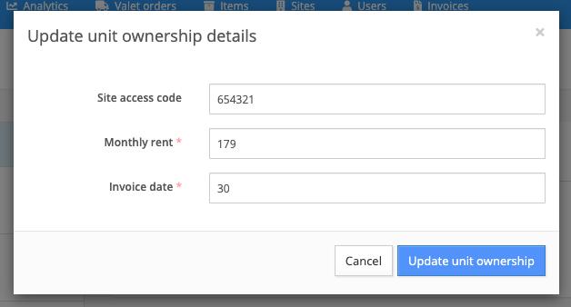 updating unit ownership details