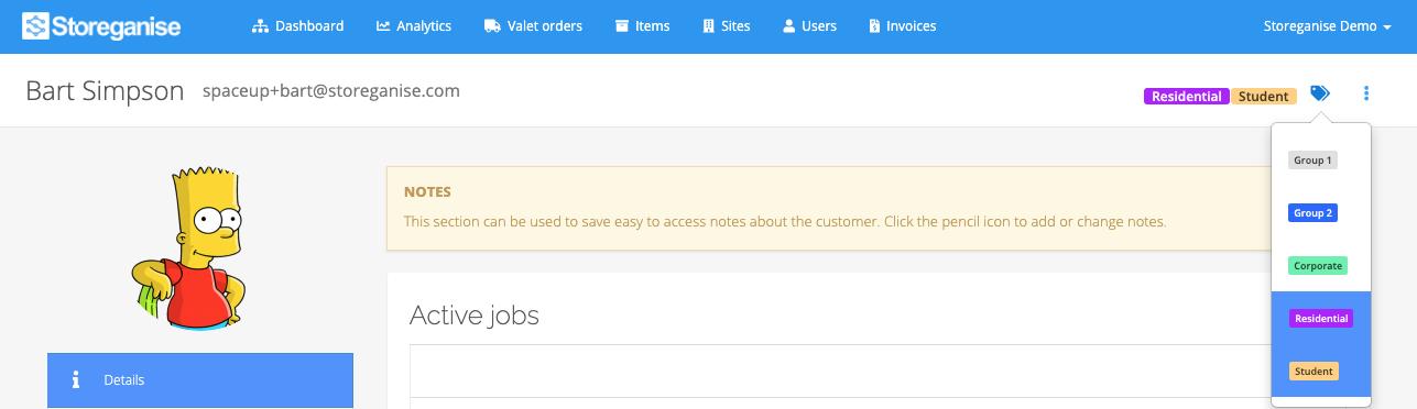 update user labels