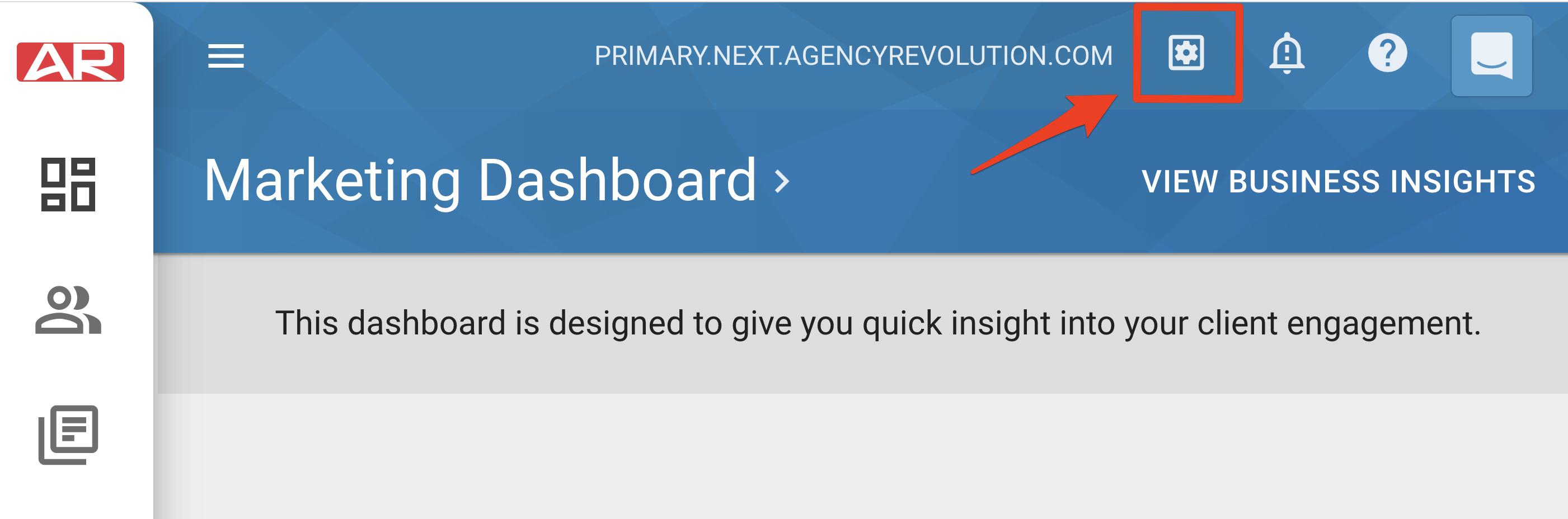 Marketing Dashboard Settings
