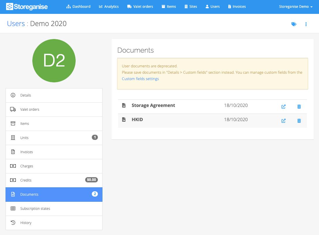 user documents