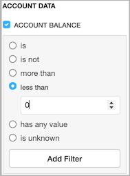 Dentally Patients Report filter for patient accounts in debit