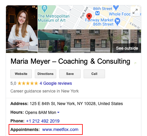 Add MeetFox to Google My Business