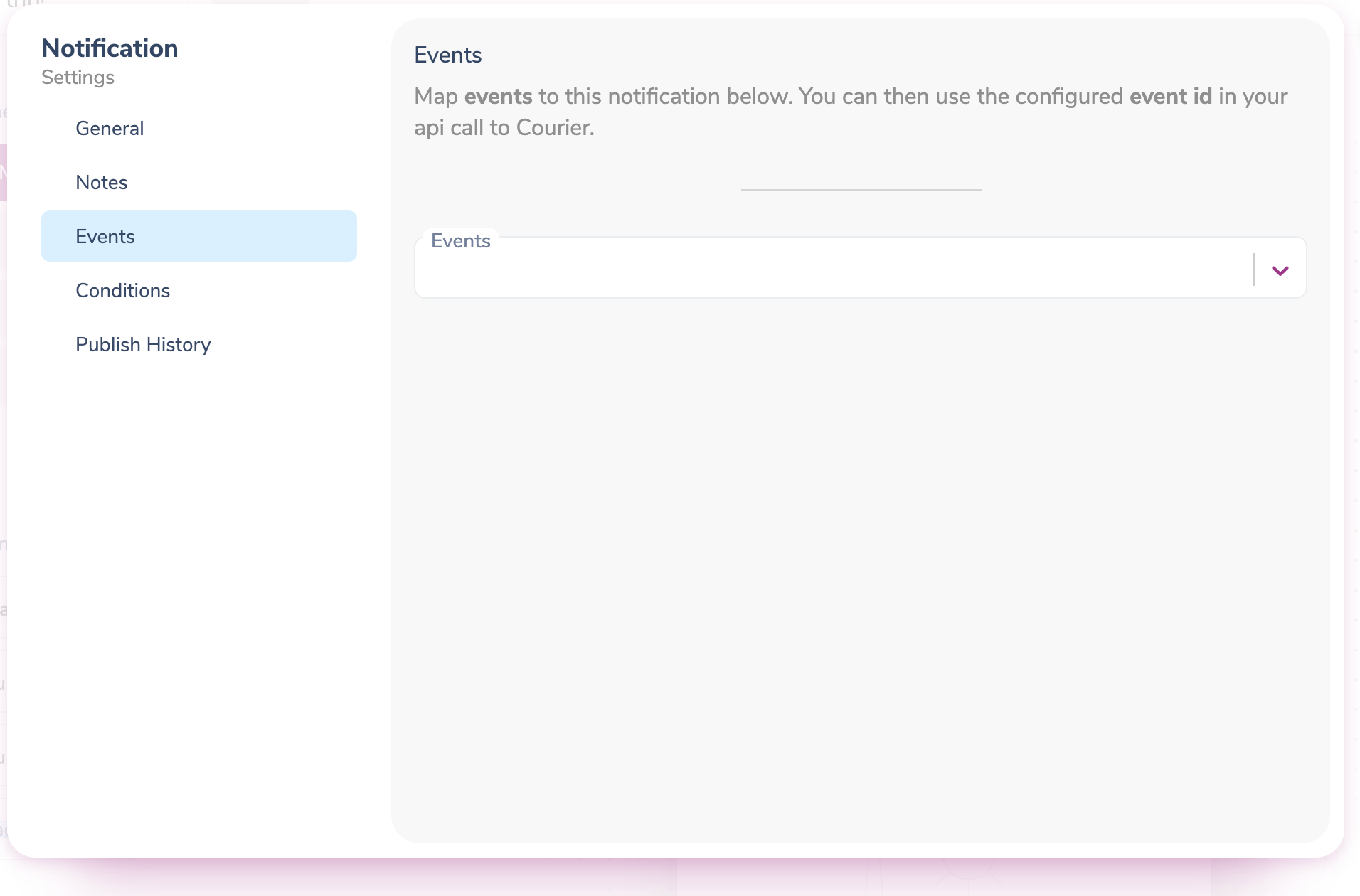 Mapping Events to Notification Templates in Courier