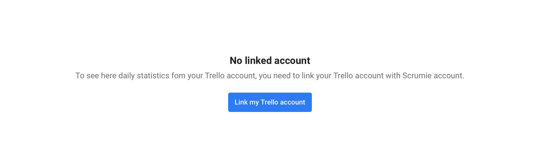 Linking Trello account - Scrumie