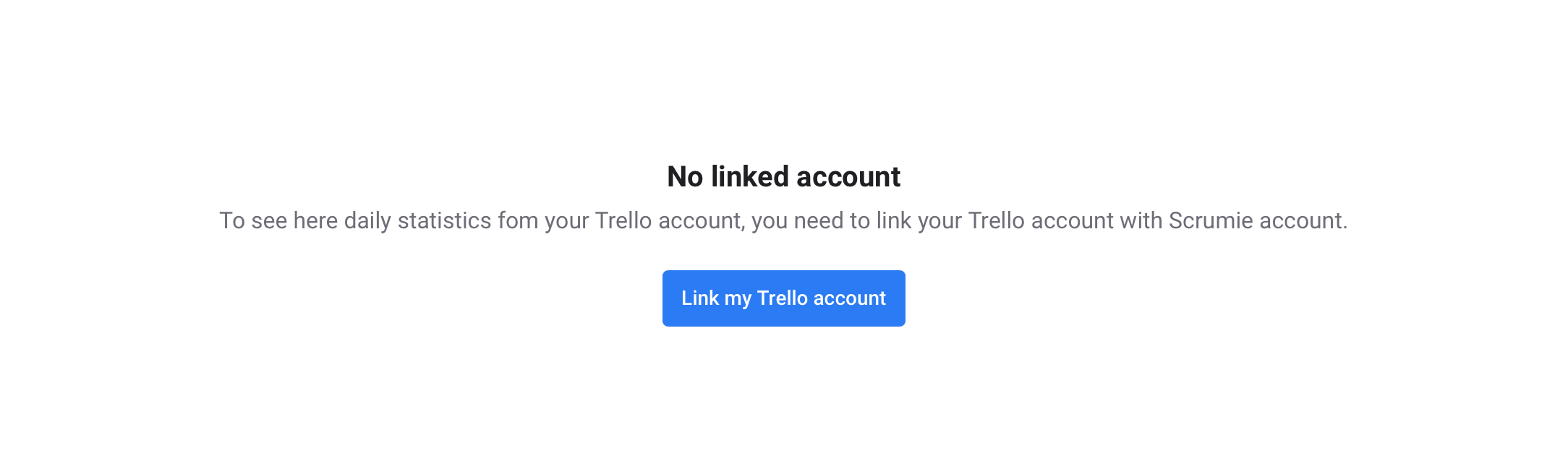 Linking Trello account - Scrumie